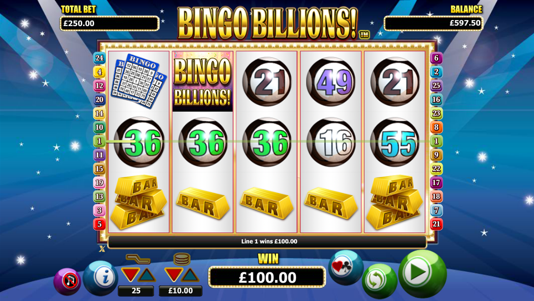 Bingo Billion videoslot