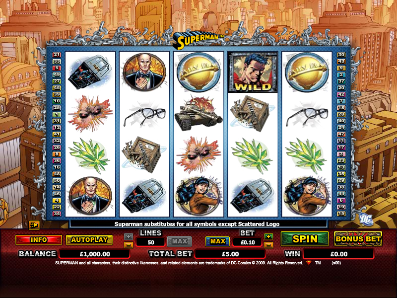 Superman slot game